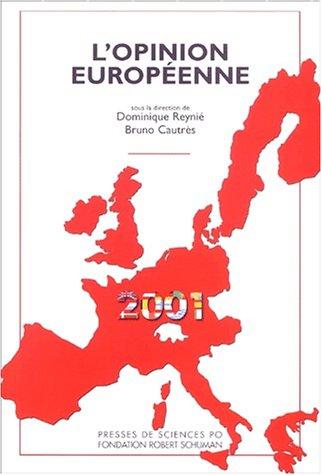 L'Opinion européenne en 2001 (avec Bruno Cautrès)