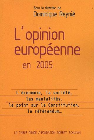 L'Opinion européenne en 2005